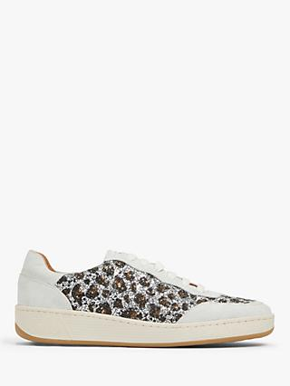 AND/OR Everleigh Glitter Animal Leather Trainers, Silver