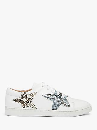 AND/OR Edie Snake Star Trainers, White
