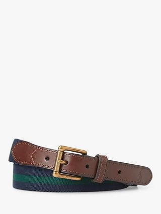 Polo Ralph Lauren Stripe Stretch Belt, French NavyNew Forest