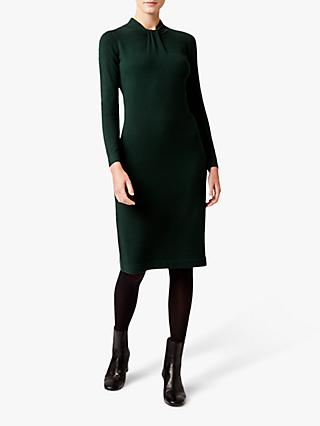 Hobbs Kelsey Knitted Dress, Fern Green