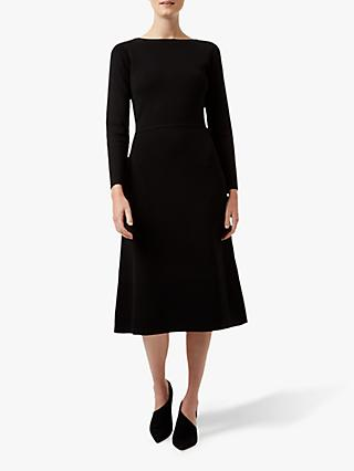 Hobbs Rebecca Knitted Dress, Black