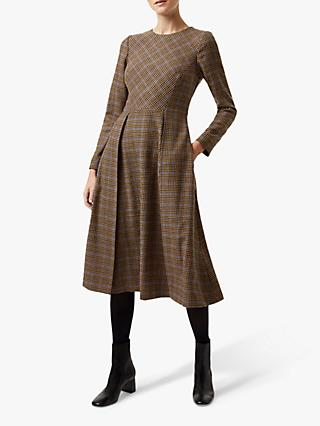 Hobbs Sophia Dress, Camel/Multi