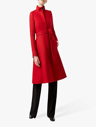 Hobbs Helen Wool Blend Coat, Red