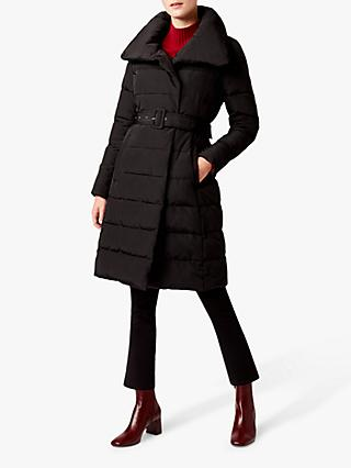 Hobbs Eva Puffer Coat, Black
