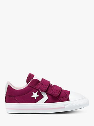 Converse Junior Varsity Star Player 2V Canvas Trainers, Maroon/White