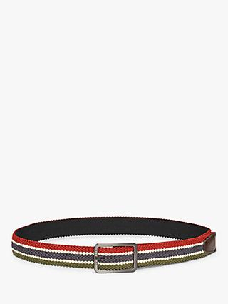 Ted Baker Ferfess Reversible Woven Belt, Black