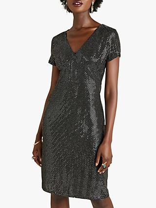 Yumi Sequin Party Dress, Silver