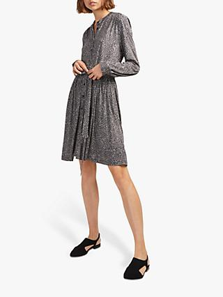 French Connection Brunella Animal Print Shirt Dress, Sabbia Multi