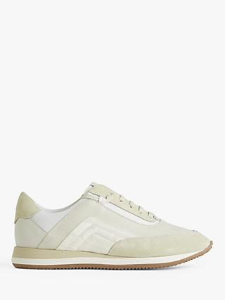 Jigsaw Lana Leather Runner Trainers, Neutral