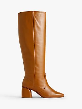 Jigsaw Daphine Leather Knee High Boots