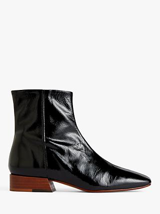 Jigsaw Anson Leather Ankle Boots, Black