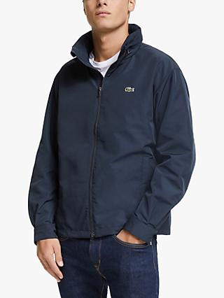 Lacoste Lightweight Water Resistant Windbreaker, Navy Blue