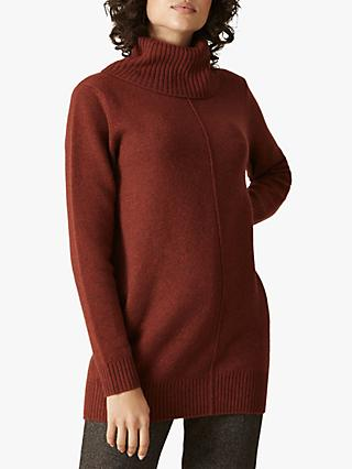 Jaeger Funnel Neck Wool Jumper