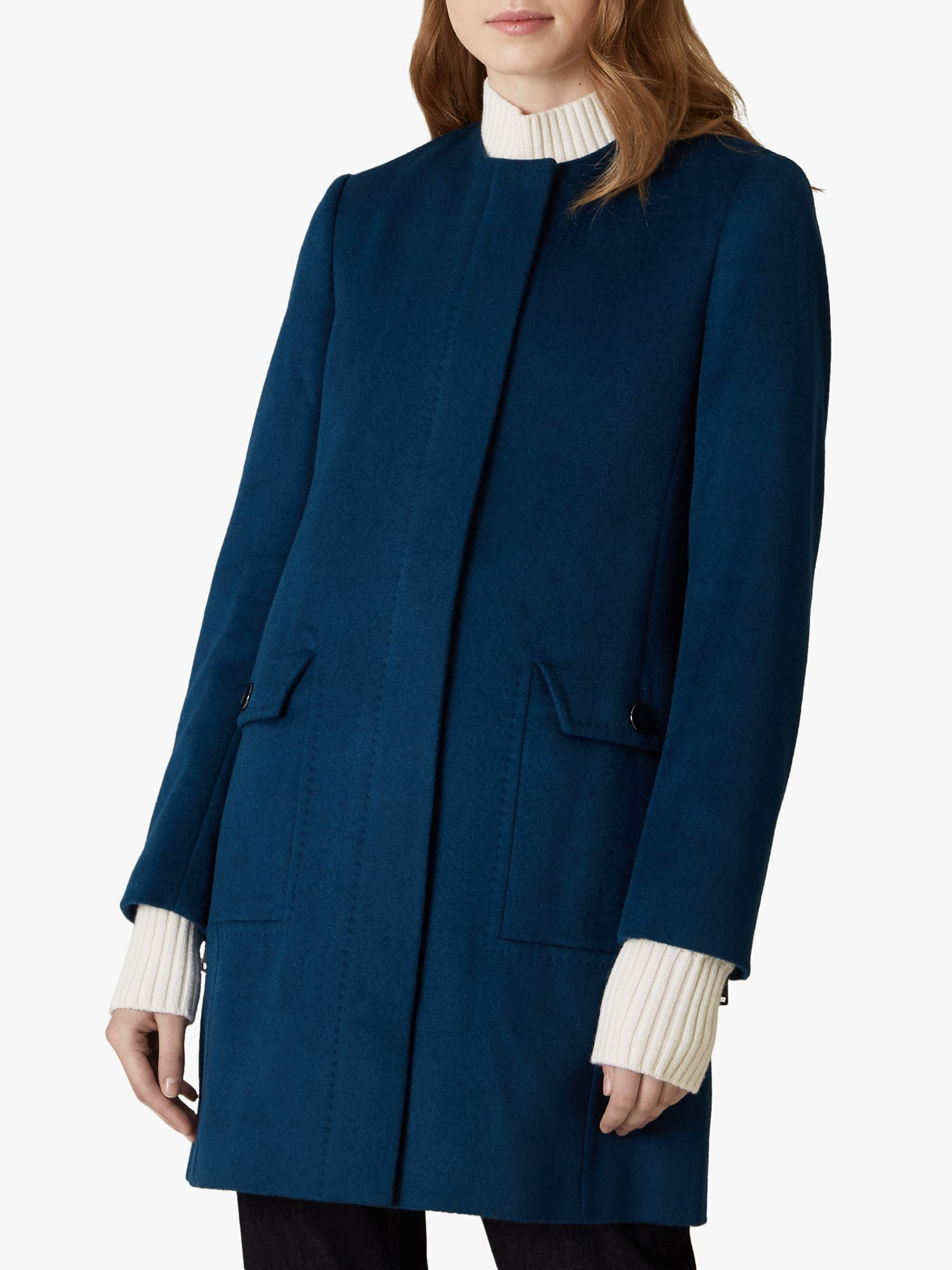 Jaeger Jaeger Wool Collarless Coat