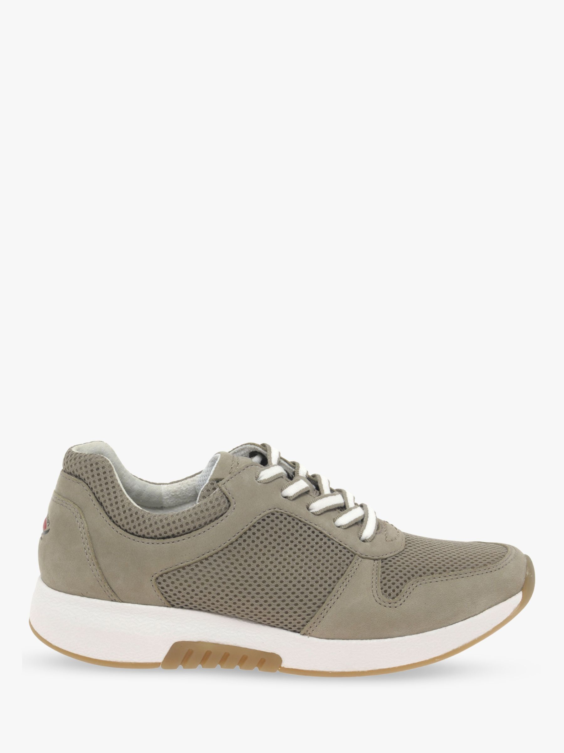 Gabor Gabor Mary Textile Lace Up Trainers, Grey