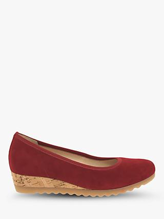 Gabor Epworth Suede Wedge Heel Casual Shoes