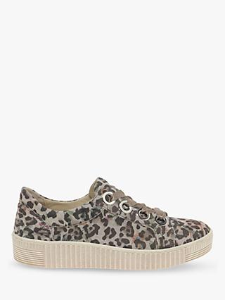 Gabor Wright Low Top Nubuck Trainers, Multi