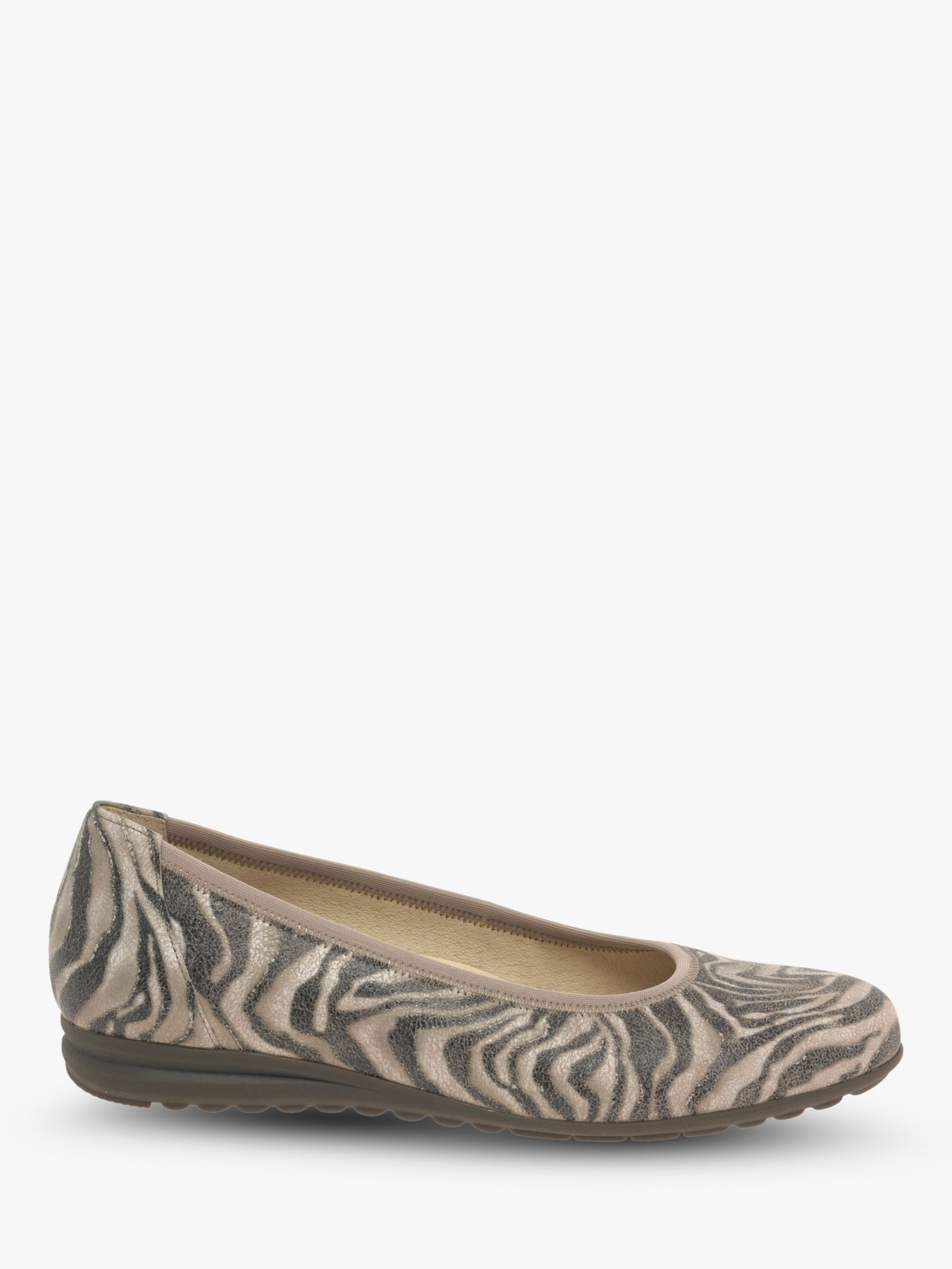 Gabor Gabor Splash Wide Fit Leather Pumps, Multi