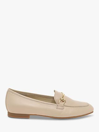 Gabor Serin Gold Trim Leather Loafers, Rose