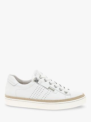 Gabor Imp Wide Fit Leather Casual Trainers