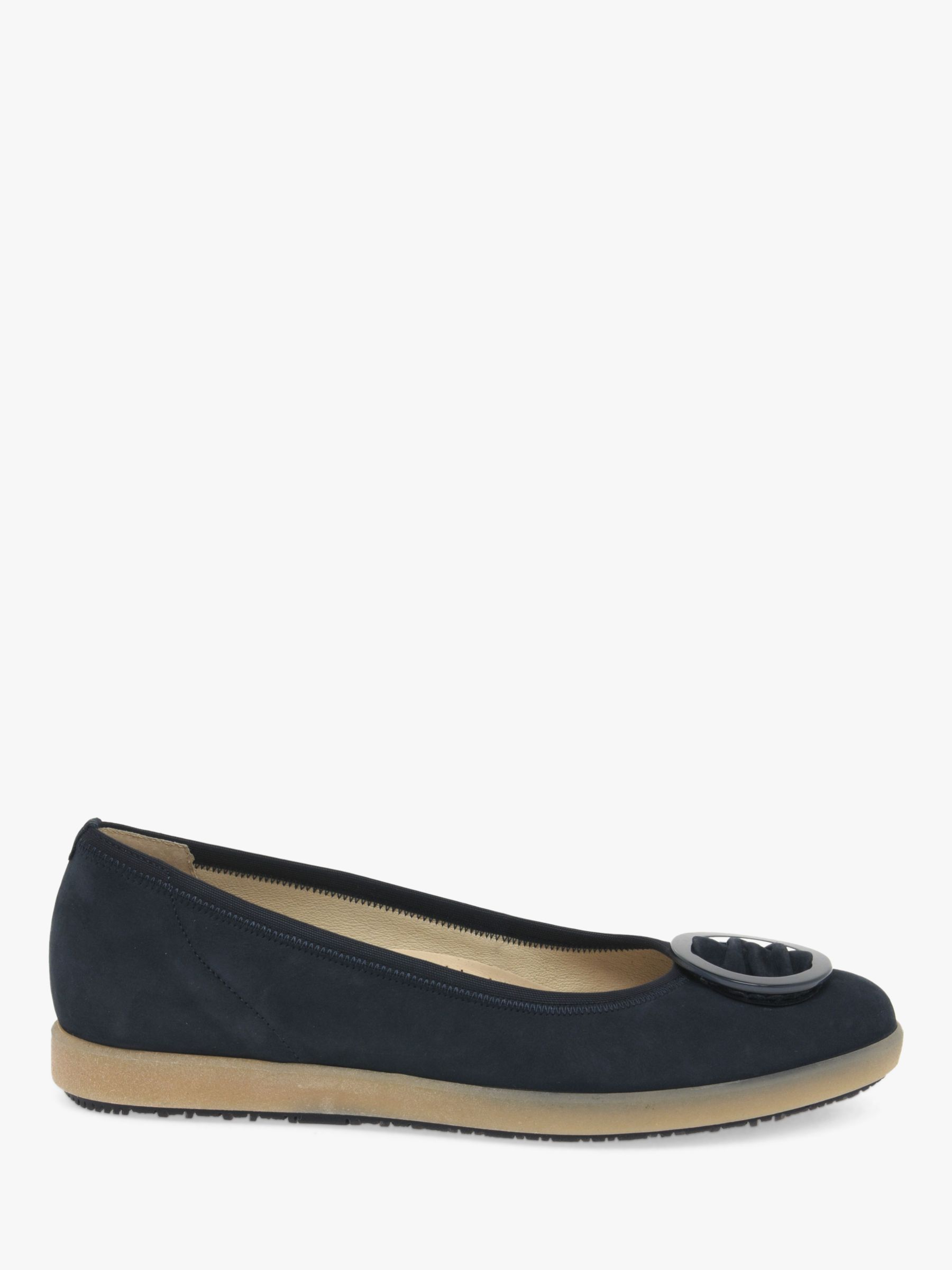 Gabor Gabor Paula Nubuck Wide Fit Flatform Pumps, Blue