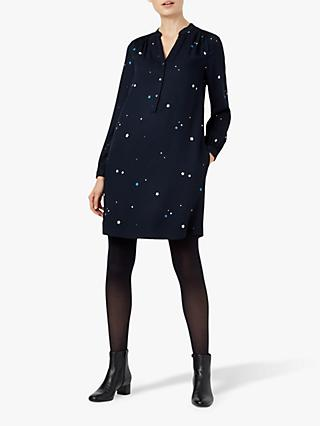 Hobbs Effie Dress, Navy