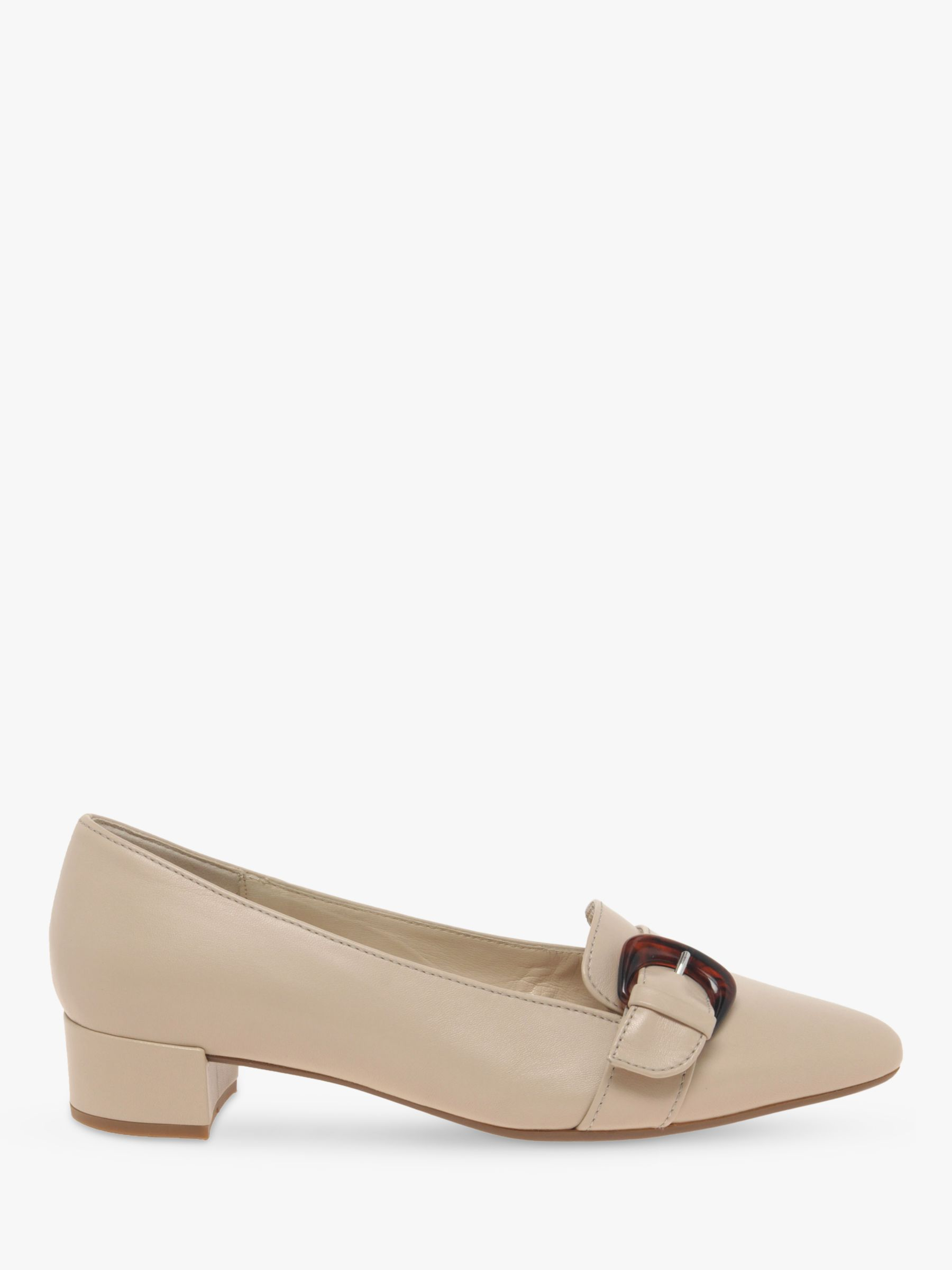 Gabor Gabor Predict Leather Court Shoes, New Rose