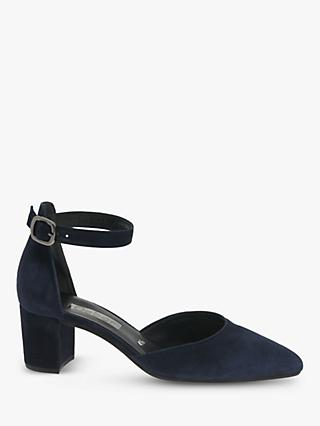 Gabor Gala Ankle Strap Suede Court Shoes