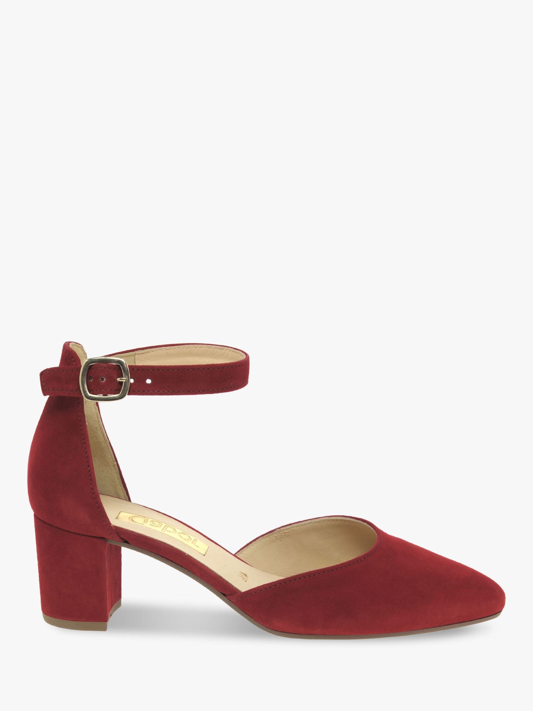 Gabor Gabor Gala Ankle Strap Suede Court Shoes