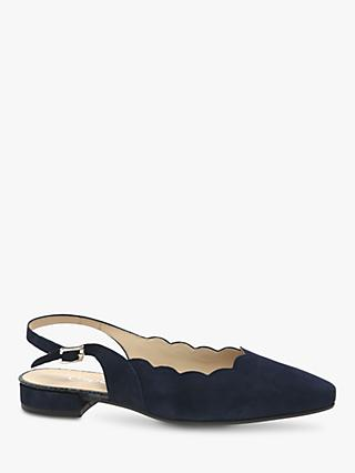 Gabor Maple Suede Wide Fit Court Shoes, Bluette