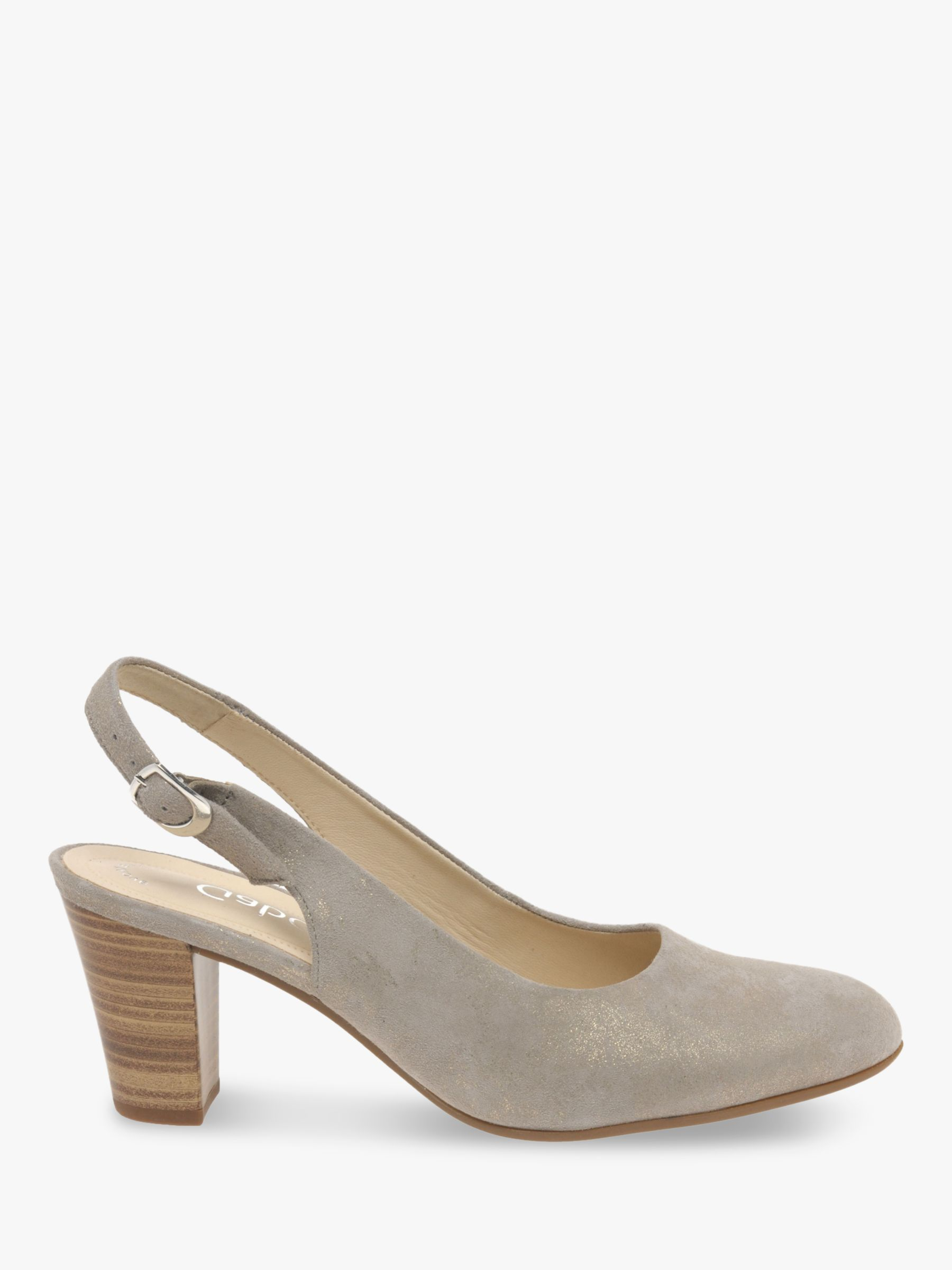 Gabor Gabor Emelda Wide Fit Leather Court Shoes