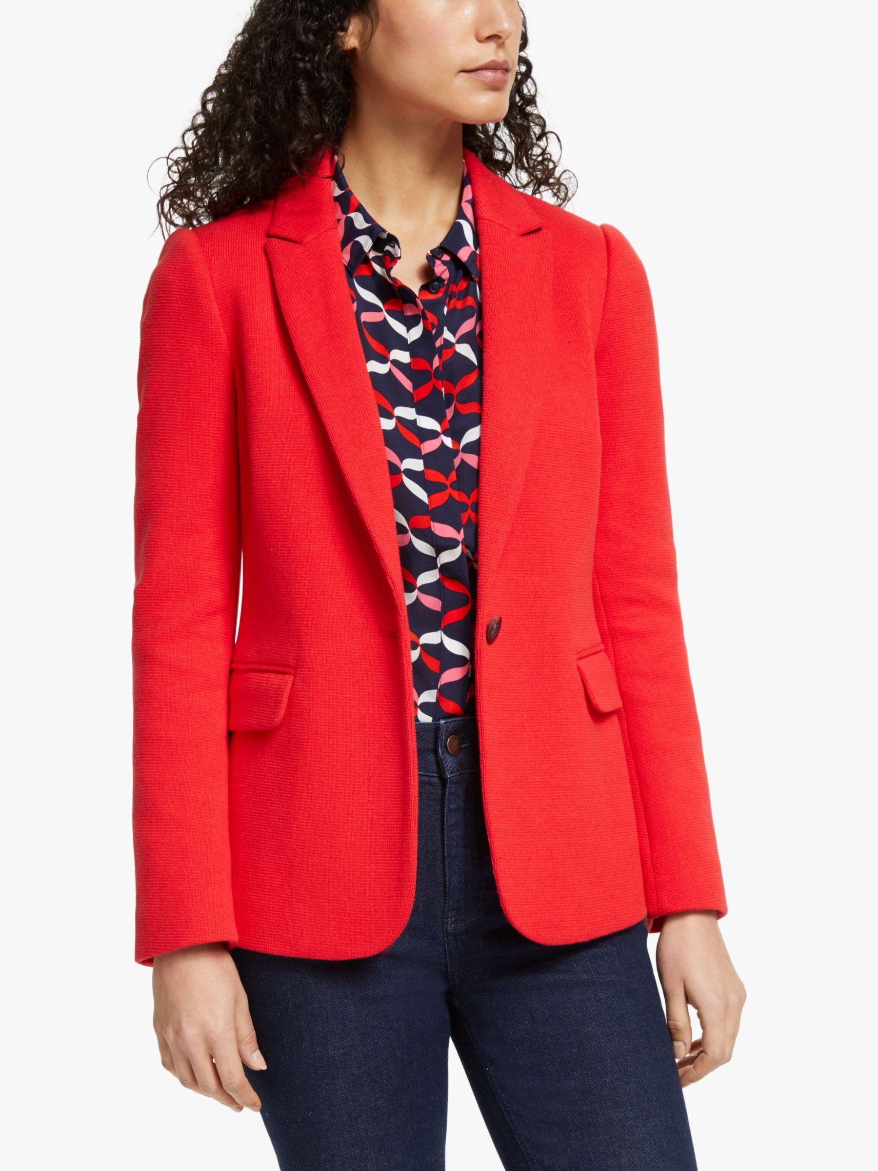 Boden Boden Hall Jersey Blazer Jacket, Post Box Red