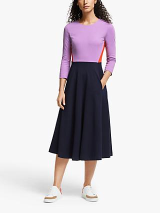 Boden Ivy Colour Block Midi Dress, Multi
