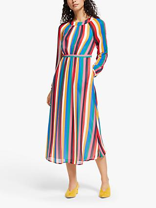 Boden Erica Rainbow Midi Dress, Multi