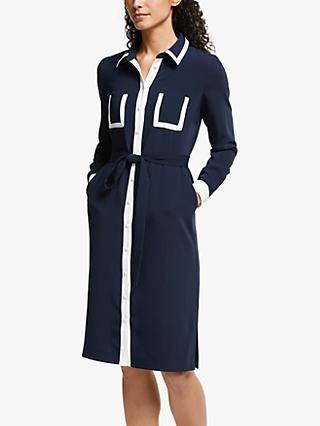 Boden Rachel Shirt Dress, Navy