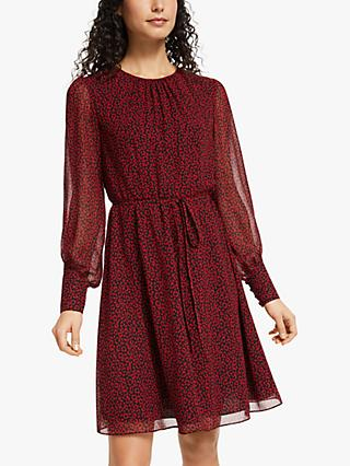 Boden Blossom Leopard Print Dress, Poinsettia