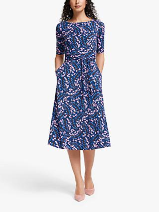 Boden Eloise Jersey Dress, Navy/Jolie