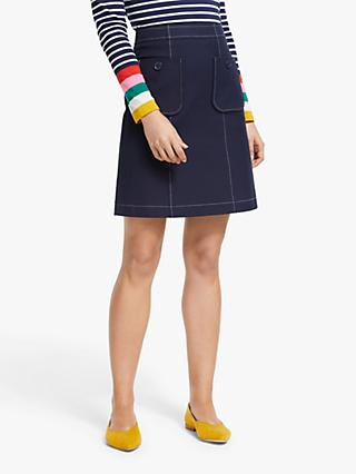 Boden Tallis Pocket Mini Skirt, Navy