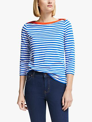 Boden Georgia Striped Cotton Jersey Top