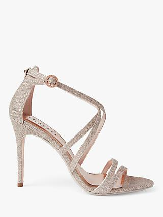 Ted Baker Oralis Strappy Heeled Sandals, Gold