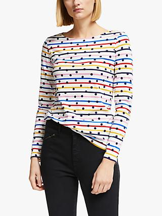 Boden Breton Spot Long Sleeve Top