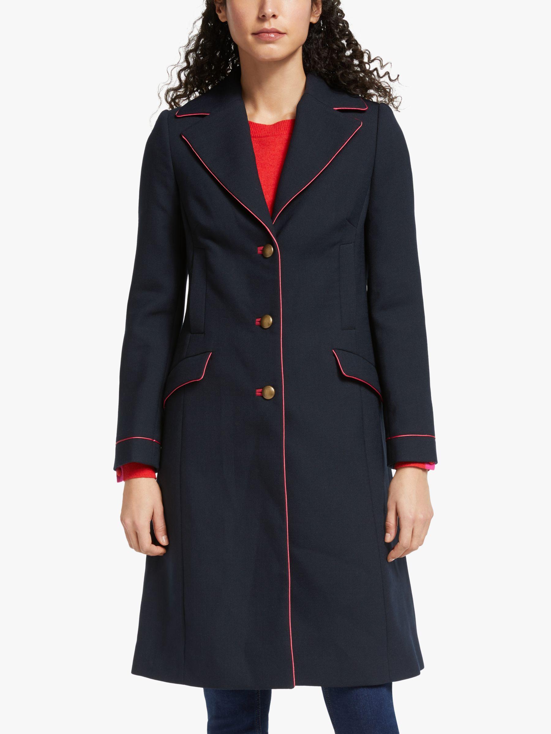 Boden Boden Dove Coat, Navy