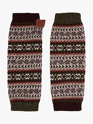 Brora Cashmere Fair Isle Wrist Warmer Gloves