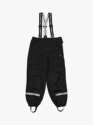 Polarn O. Pyret Children's Waterproof Shell Trousers, Black