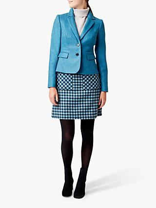 Hobbs Hackness Wool Jacket, Kingfisher Blue