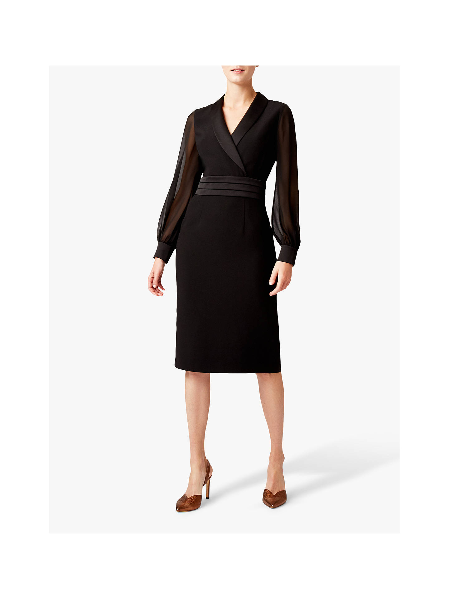 Buy Hobbs Fridah Tux Dress, Black, 12 Online at johnlewis.com