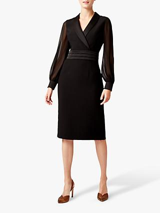 Hobbs Fridah Tux Dress, Black