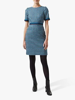 Hobbs Elodie Wool Dress, Kingfisher Blue