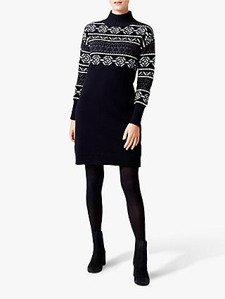 Hobbs Bexley Knitted Dress, Navy/Multi