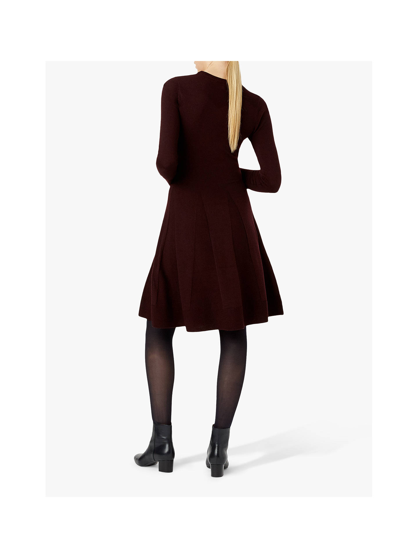 Buy Hobbs Sarah Knitted Dress, Aubergine, 6 Online at johnlewis.com